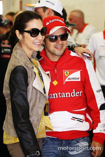 Felipe Massa, Ferrari with Michelle Yeoh (MAL)