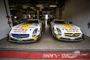 Rowe Racing Mercedes-Benz SLS AMG GT3 (SP9) cars