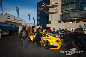 #35 Timbuli Racing Porsche 997 GT3 R (SP9) car at technical inspection