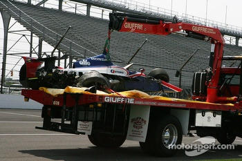 Conor Daly's crashed car