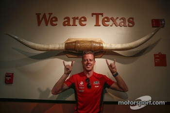 James Courtney visits Texas University