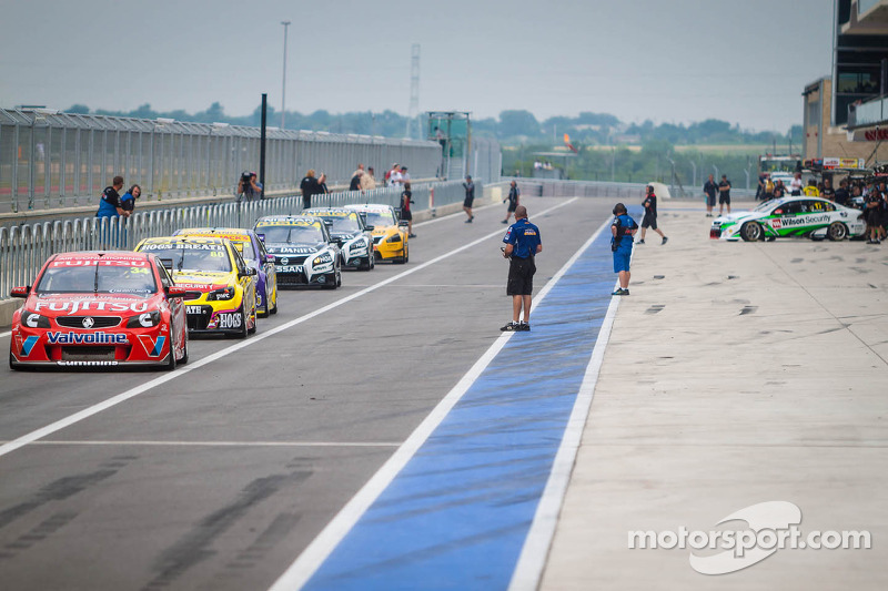 Cars ready to take the track
