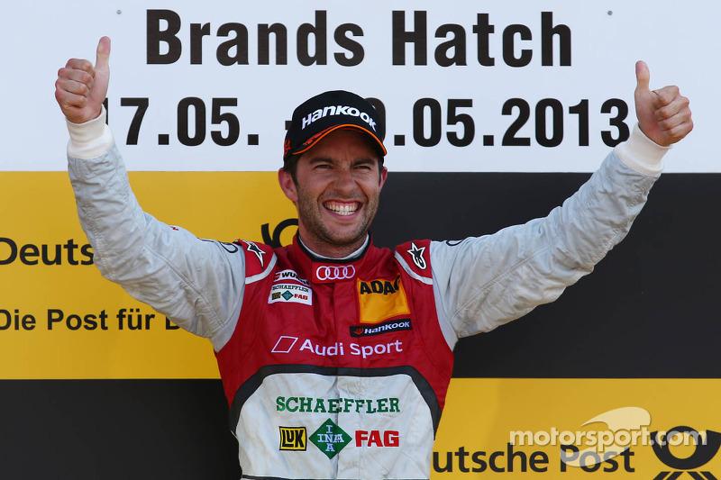 Podium: race winner Mike Rockenfeller, Audi Sport Team Phoenix Audi RS 5 DTM