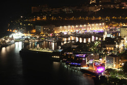 Scenic Monaco at night