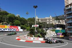 Esteban Gutierrez, Sauber C32 leads Charles Pic, Caterham CT03