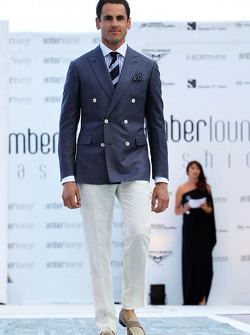 Adrian Sutil, Sahara Force India F1 at the Amber Lounge Fashion Show