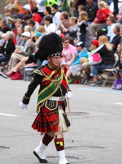 Indy 500 parade through downtown Indianapolis
