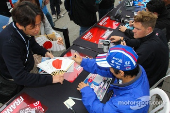 Takuma Sato and James Jakes