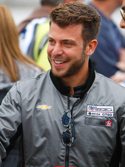 EJ Viso at the drivers meeting