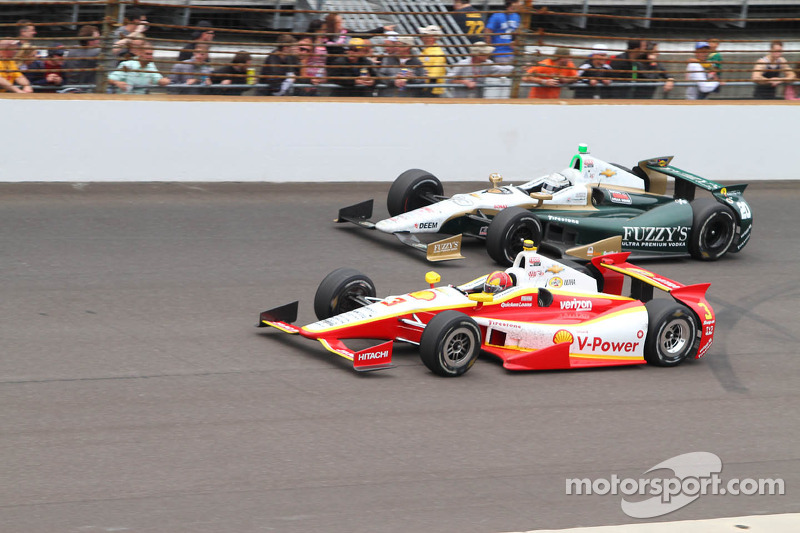 Helio Castroneves and Ed Carpenter