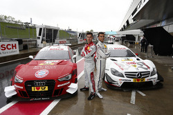 Miguel Molina, Audi Sport Team Phoenix, Audi RS 5 DTM, Pascal Wehrlein, RSC Mücke Motorsport, DTM Mercedes AMG C-Coupe