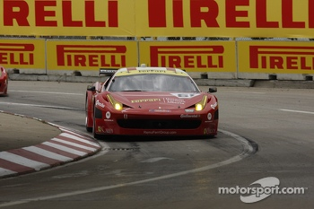 #61 R.Ferri/AIM Motorsport Racing with Ferrari Ferrari 458: Max Papis, Jeff Segal
