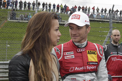Jessica Hinterseer, Girlfriend of Timo Scheider with Timo Scheider, Audi Sport Team ABT Sportsline Audi A5 DTM