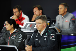 The FIA Press Conference, Ferrari General Director; Christian Horner, Red Bull Racing Team Principal; Martin Whitmarsh, McLaren Chief Executive Officer; Monisha Kaltenborn, Sauber Team Principal; Ross Brawn, Mercedes AMG F1 Team Principal