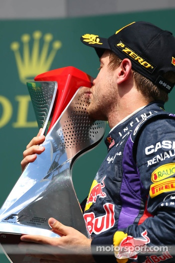 1st place for Sebastian Vettel, Red Bull Racing