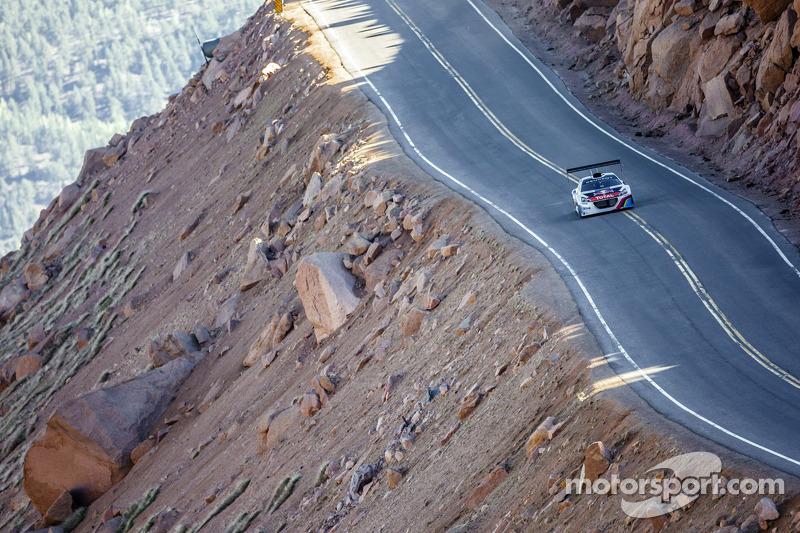 Sébastien Loeb tests the Peugeot 208 T16 at Pikes Peak