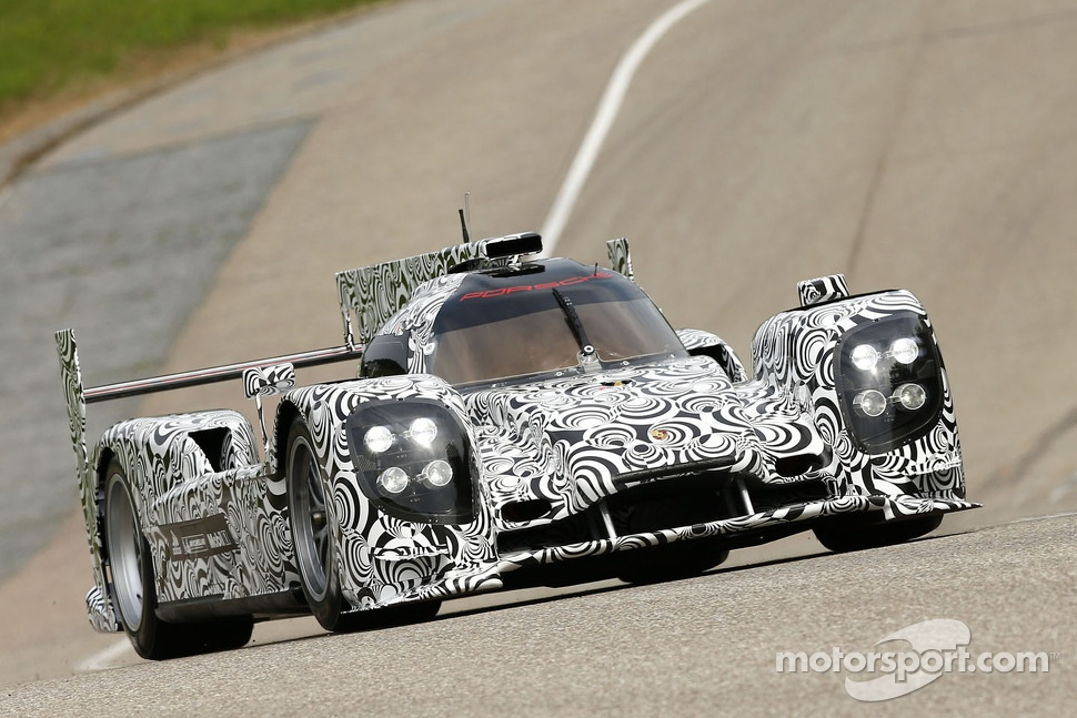 Timo Bernhard tests the new Porsche LMP1