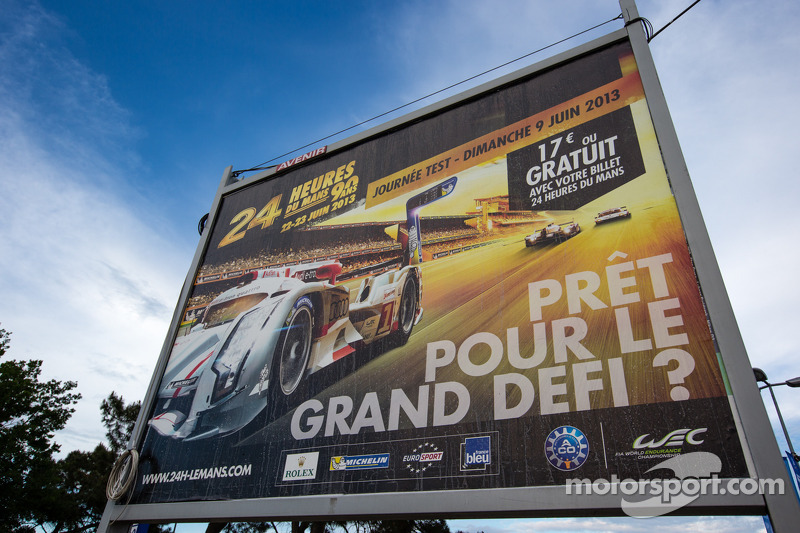 Billboard for the 2013 24 Hours of Le Mans