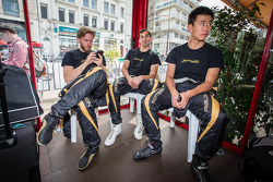 Nick Heidfeld, Neel Jani and Congfu Cheng