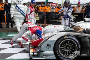 Loic Duval kisses the winning car