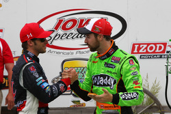 Race winner James Hinchcliffe with Marco Andretti