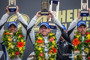 LMP1 podium privateer: class winners Nick Leventis, Jonny Kane, Danny Watts