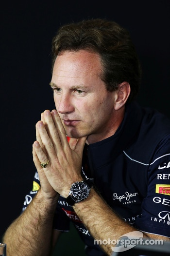 Christian Horner, Red Bull Racing Team Principal in the FIA Press Conference