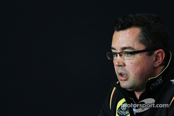 Eric Boullier, Lotus F1 Team Principal in the FIA Press Conference