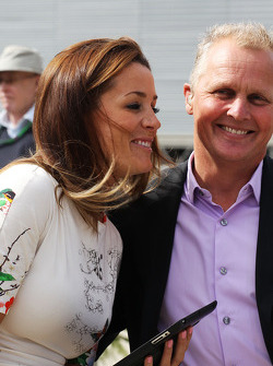 Natalie Pinkham, Sky Sports Presenter with Johnny Herbert