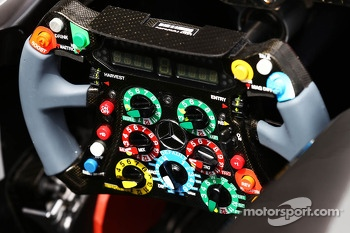 Mercedes AMG F1 W04 steering wheel