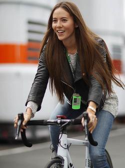 Jessica Michibata, rides a bicycle
