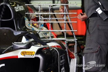 Sensor equipment on the Sauber C32