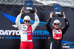Daytona Rising event: winners Trevor Bayne, Wood Brothers Racing Ford and Greg Biffle, Roush Fenway Racing Ford
