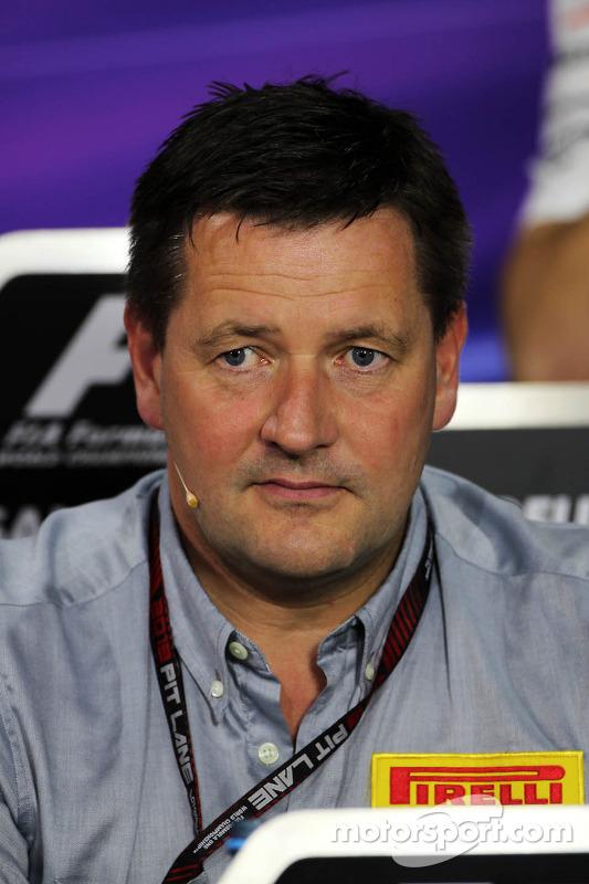 Paul Hembery, Pirelli Motorsport Director in the FIA Press Conference