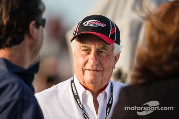 Roger Penske attends the race on the Sprint Tower rooftop