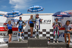 SportBike Race #1 Podium: 1st Place Cameron Beaubier, 2nd Place Garrett Gerloff, 3rd Place JD Beach