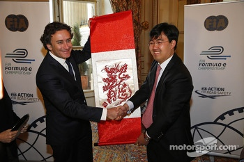 Alejandro Agag, CEO, Formula E Holdings, Formula E China Racing presentation