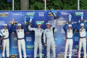 DP podium: winners Scott Mayer, Brendon Hartley, second place Christian Fittipaldi, Joao Barbosa, third place Burt Frisselle, Brian Frisselle