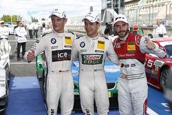 Qualifying, 2nd Marco Wittmann, BMW Team MTEK BMW M3 DTM, 1st Augusto Farfus, BMW Team RBM BMW M3 DTM; 3rd Miguel Molina, Audi Sport Team Phoenix Racing Audi A5 DTM