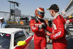 Race winners Sergei Afanasiev, Andreas Simonsen
