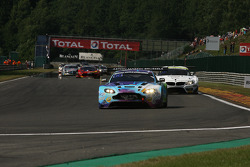 Pace lap; #89 GPR AMR Aston Martin Vantage GT3: Pierre Grivegnée, Michael Schmetz, Sarah Bovy, Bert Redant
