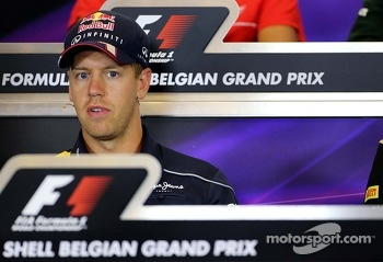 Sebastian Vettel, Red Bull Racing at the press conference.