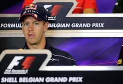 Sebastian Vettel, Red Bull Racing at the press conference.