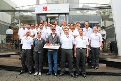 Nico Hulkenberg, Sauber celebrates his 50th GP with the team