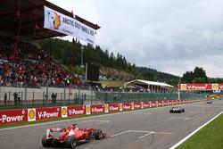 Fernando Alonso, Ferrari passes a Greenpeace protest