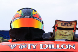 The helmet and HANS device of Ty Dillon