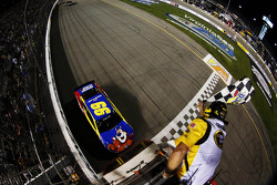 Carl Edwards, Roush Fenway Racing Ford takes the win