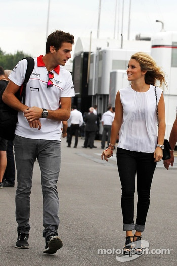 Jules Bianchi, Marussia F1 Team with girlfriend Camille Marchetti