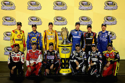 NASCAR-CUP: The 2013 Chase drivers: Joey Logano, Martin Truex Jr., Kyle Busch, Carl Edwards, Matt Kenseth, Dale Earnhardt Jr., Greg Biffle, Kevin Harvick, Kurt Busch, Jimmie Johnson, Kasey Kahne, Clint Bowyer