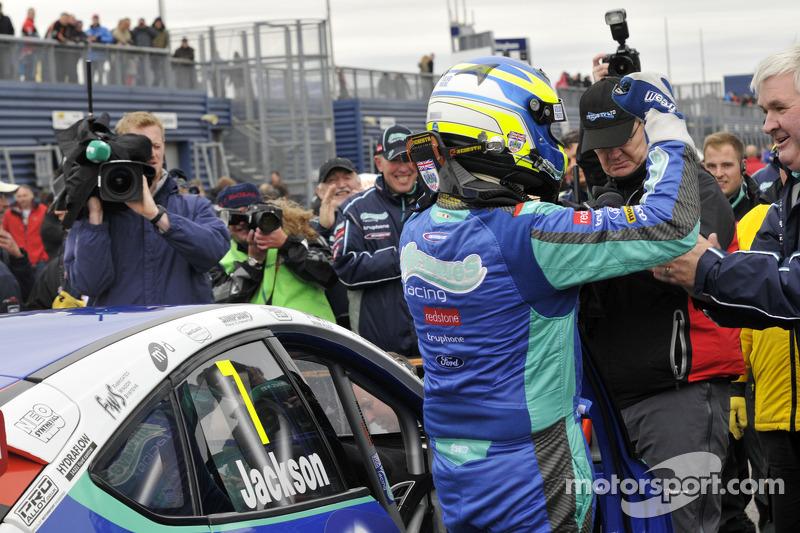 Mat Jackson celebrates second